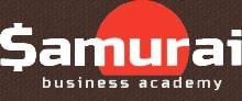 Логотип академии Самурай-бзнес на тёмном фоне